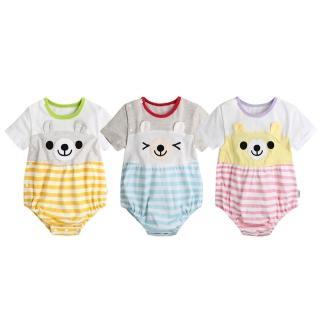 【Baby童衣】側開扣立體動物耳朵造型包屁衣 80072(共3色)  Baby童衣