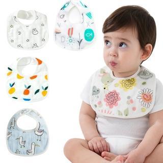 【Baby童衣】6層全棉嬰幼兒暗扣圍兜 60369(共6色)  Baby童衣