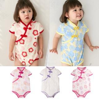 【Baby童衣】斜襟漂亮花朵短袖包屁衣 60321(共5色)  Baby童衣
