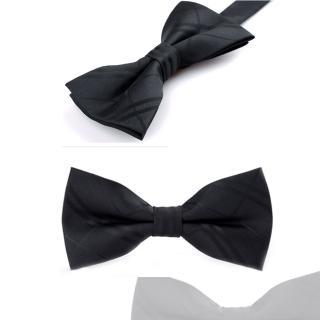 【拉福】亂入黑底紋精工領結新郎結婚領結糾糾(黑色)  拉福