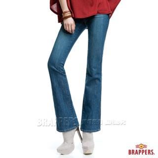 【BRAPPERS】女款 新美腳Royal系列-彈性小喇叭褲(藍)  BRAPPERS