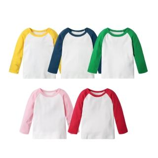 【Baby童衣】兒童純棉圓領插肩袖上衣 60266(共5色)推薦折扣  Baby童衣