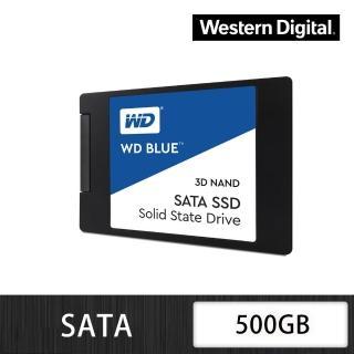 【WD 威騰】藍標 500GB 2.5吋 7mm SATA 3D NAND 固態硬碟(WDS500G2B0A)  WD 威騰