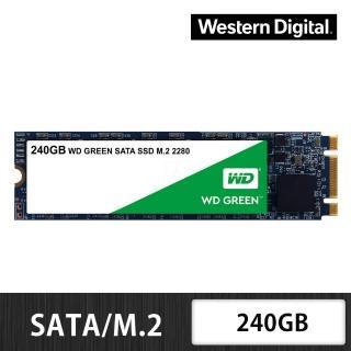 【WD 威騰】綠標 240GB M.2 2280 SATA 3D NAND 固態硬碟(WDS240G2G0B)  WD 威騰