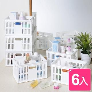【真心良品】托斯卡萬用收納籃4L(6入)  真心良品