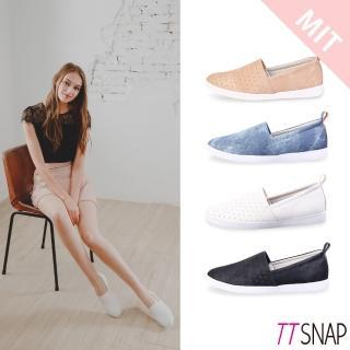 【TTSNAP】懶人鞋-MIT輕巧透氣洞洞休閒鞋(黑/白/藍/粉)好評推薦  TTSNAP