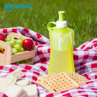 【韓國sillymann】100%簡約便攜捲式鉑金矽膠水瓶-550ml(蘋果綠)  sillymann