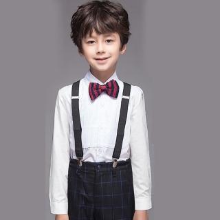 【拉福】兒童領結糾糾針織小紳士專用領結(藍紅 兒童)  拉福