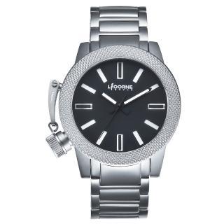 【LICORNE】力抗 MKII系列經典帥氣手錶(黑/銀 LI031MWBI)  LICORNE