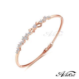 【AchiCat】手環 正白K 甜美蝴蝶結 B7002(玫金)推薦折扣  AchiCat