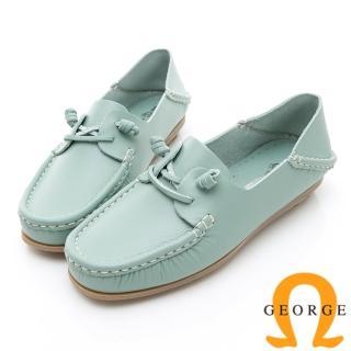 【GEORGE 喬治皮鞋】水洗系列 素面繩結大底休閒鞋-淺藍  GEORGE 喬治皮鞋