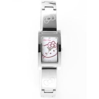 【HELLO KITTY】凱蒂貓秀氣質感流行手錶(銀/白 LK679LWWI) 推薦  HELLO KITTY