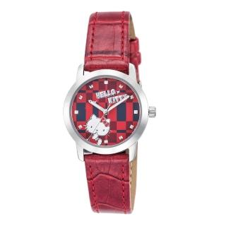 【HELLO KITTY】凱蒂貓繽紛格紋造型手錶(紅 LK683LWRR)好評推薦  HELLO KITTY