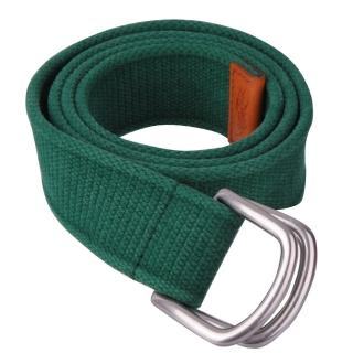 【POLO】經典戰馬壓紋棉質腰帶(綠)  POLO