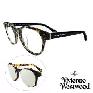 【Vivienne Westwood】英國薇薇安魏斯伍德 2in1 眼鏡(白琥珀 VW861M03// 限定版)  Vivienne Westwood