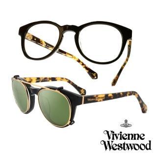 【Vivienne Westwood】英國薇薇安魏斯伍德 2in1 眼鏡(黃琥珀 VW861M01// 限定版)  Vivienne Westwood
