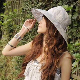 【Lady c.c.】歐式名媛花語質感遮陽帽(深灰)  Lady c.c.