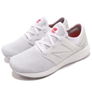 【NEW BALANCE】慢跑鞋 MCRUZRW2 D 男鞋 紐巴倫 跑鞋 跑步 襪套 透氣 男 白 紅(MCRUZRW2D)好評推薦  NEW BALANCE
