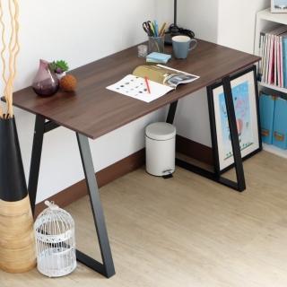 【EASY HOME】防潑水/耐磨加寬電腦工作桌(胡桃色)強力推薦  EASY HOME