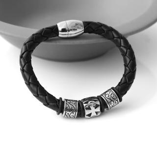 【玖飾時尚】幾何元素混搭民族風編織手環(手環) 推薦  玖飾時尚