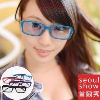 【Seoul Show首爾秀】短絨窄方框濾光微墨鏡 303(防曬遮陽)  Seoul Show首爾秀