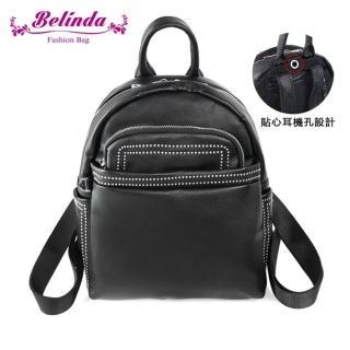 【Belinda】布雷曲簡約後背包-黑色強力推薦  Belinda