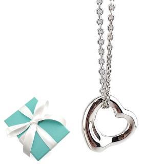 【Tiffany&Co. 蒂芙尼】迷你Open Heart 925純銀愛心墜飾項鍊  Tiffany&Co. 蒂芙尼