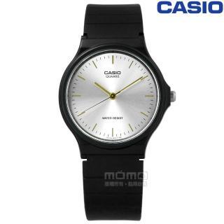 【CASIO 卡西歐】簡潔復刻 日本機芯 橡膠手錶 銀x黑 33mm(MQ-24-7E2) 推薦  CASIO 卡西歐