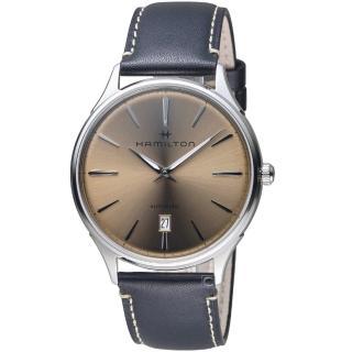 【HAMILTON 漢米爾頓】紐約星嵐系列極簡時尚機械腕錶(H38525721)  HAMILTON 漢米爾頓