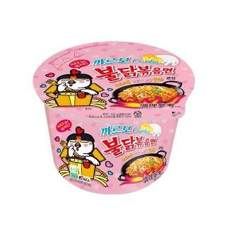 【三養】火辣雞肉奶油白醬風味鐵板碗麵(碗麵105g)