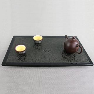 【生活禪】玄武岩石雕茶盤-出雙入對/線邊 B21-016-1(40x22x2.8cm)  生活禪