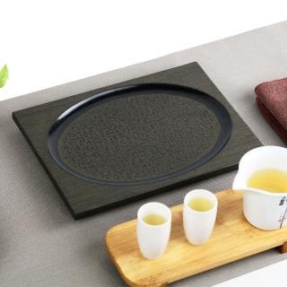 【生活禪】玄武岩石雕茶盤-小方茶盤 B21-014(乾泡 26.5x20x2.5cm)  生活禪