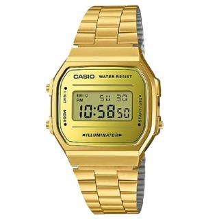 【CASIO 卡西歐】電子男錶 不鏽剛錶帶 防水 碼錶功能(A168WEGM-9D)  CASIO 卡西歐