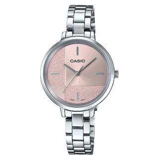 【CASIO 卡西歐】簡約指針女錶 不鏽鋼錶帶 割造型錶面 防水(LTP-E152D-4E)  CASIO 卡西歐