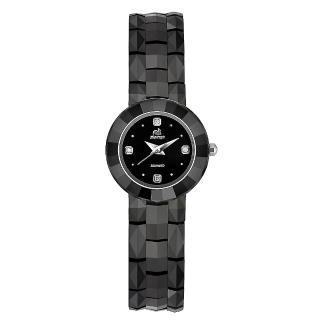 【Flungo佛朗明哥】黑珍珠陶瓷真鑽腕錶(真鑽腕錶)好評推薦  Flungo佛朗明哥