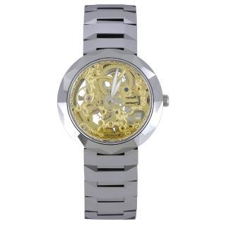【Flungo佛朗明哥】鎢鋼鏤空雕花機械腕錶(鎢鋼鏤空)  Flungo佛朗明哥