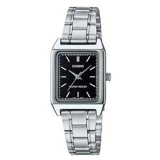 【CASIO 卡西歐】方形指針女錶 不鏽鋼錶帶 防水(LTP-V007D-1E)  CASIO 卡西歐