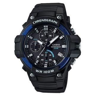 【CASIO 卡西歐】三眼計時碼表 防水 碼錶功能(MCW-110H-2A)  CASIO 卡西歐
