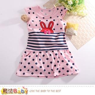 【魔法Baby】女童裝 夏季無袖連身裙(k50813)好評推薦  魔法Baby