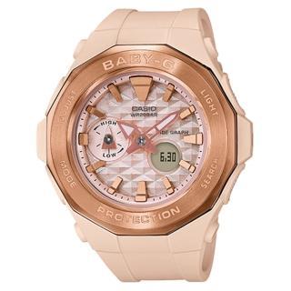 【CASIO 卡西歐】BABY-G 杏粉色多功能運動錶-玫瑰金(BGA-225CP-4A)好評推薦  CASIO 卡西歐