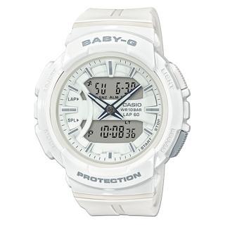 【CASIO 卡西歐】百搭慢跑雙顯女錶 樹脂錶帶 防水100米 碼錶功能(BGA-240BC-7A)真心推薦  CASIO 卡西歐