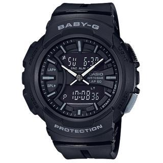 【CASIO 卡西歐】百搭慢跑雙顯女錶 樹脂錶帶 防水100米 碼錶功能(BGA-240BC-1A)  CASIO 卡西歐