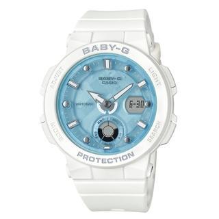 【CASIO 卡西歐】海洋風情雙顯女錶 樹脂錶帶 防水100米 世界時間(BGA-250-7A1)強力推薦  CASIO 卡西歐