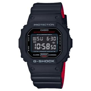 【CASIO 卡西歐】絕對強悍電子男錶 樹脂錶帶 防水200米 碼錶功能(DW-5600HR-1D)  CASIO 卡西歐