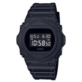 【CASIO 卡西歐】復刻經典電子男錶 樹脂錶帶 防水200米 碼錶功能(DW-5750E-1B)  CASIO 卡西歐