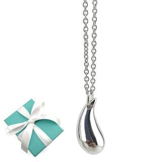 【Tiffany&Co. 蒂芙尼】實心淚滴925純銀墜飾項鍊強力推薦  Tiffany&Co. 蒂芙尼