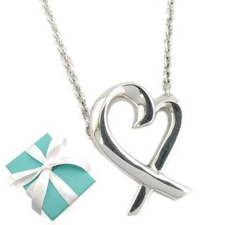 【Tiffany&Co. 蒂芙尼】經典Loving heart 925純銀墜飾項鏈  Tiffany&Co. 蒂芙尼