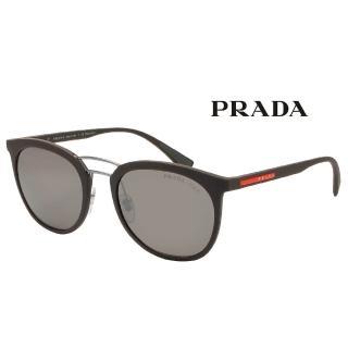 【PRADA 普拉達】深咖啡復古圓框偏光太陽眼鏡(#PR04SS-UB05K0)強力推薦  PRADA 普拉達