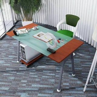 【IHouse】DIY刻瑞斯 熱銷電腦置物架玻璃電書桌工作桌  IHouse