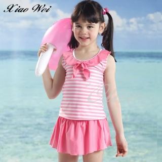【小薇的店】泳之美品牌時尚女童二件式泳裝(NO.67796-3L)  小薇的店